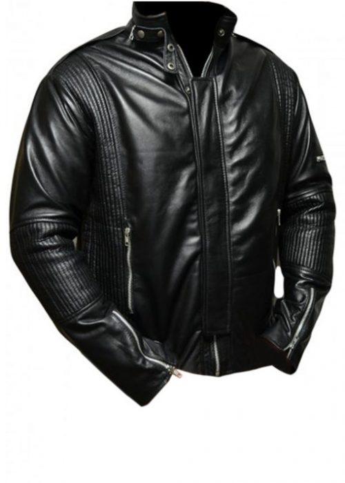 Daft Punk Black Leather Jacket