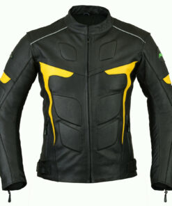 Mens-Biker- Armours-Motorcycle-Leather-Jacket
