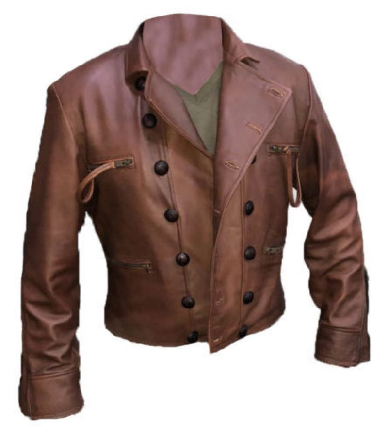 Justice League Aquaman Brown Leather Jacket