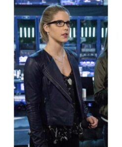 Emily Bett Rickards Arrow Season 5 Leather Jacket
