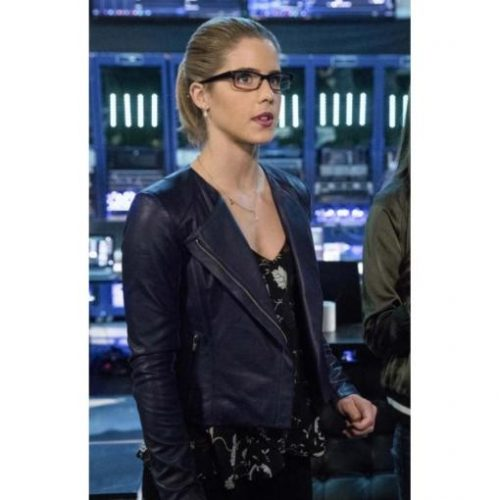 Emily Bett Rickards Arrow Season 5 Leather Jacket