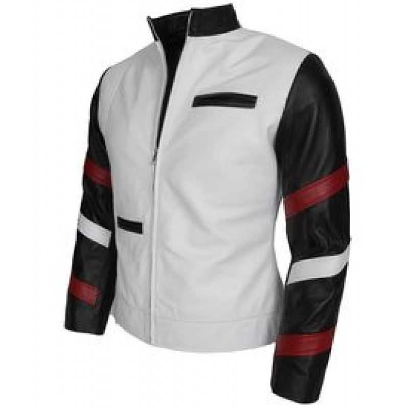 Bruce Lee White Leather Jacket