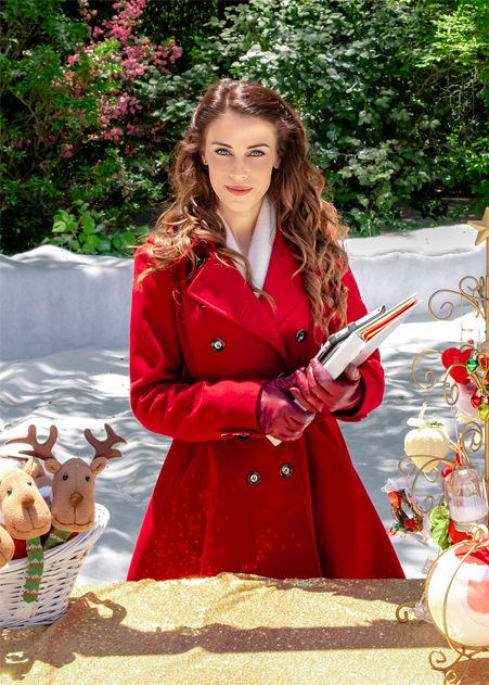 Christmas at Pemberley Manor Jessica Lowndes Coat
