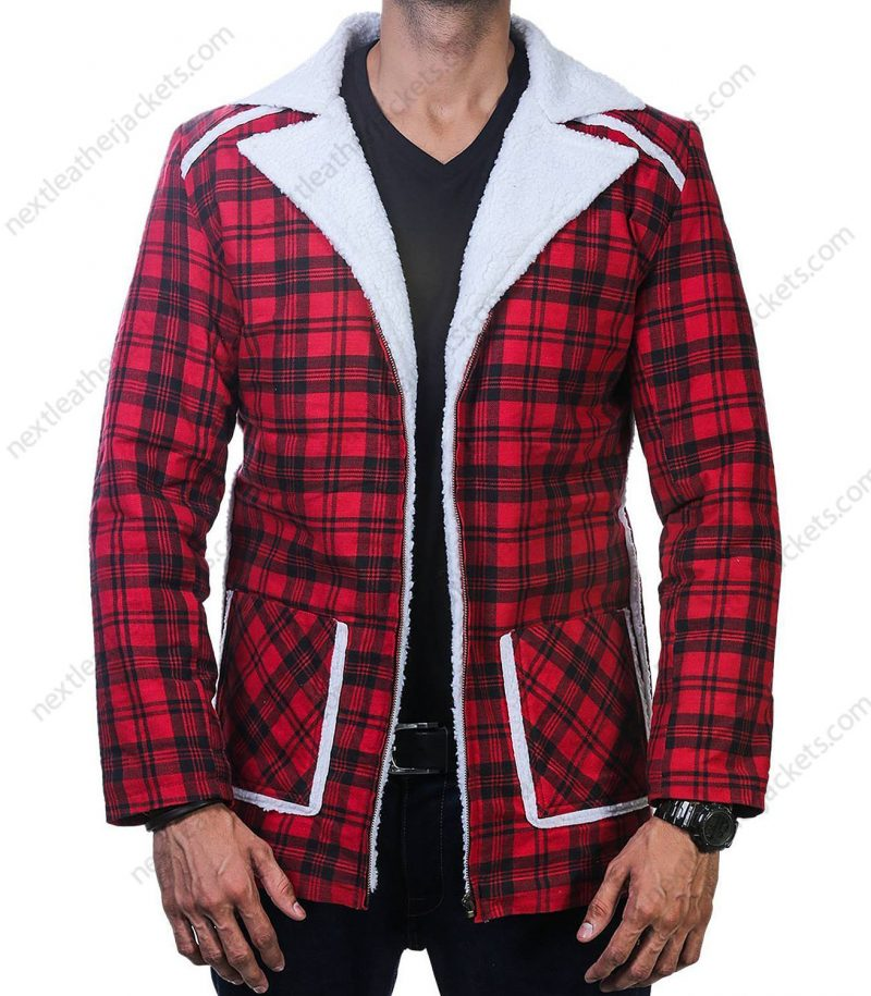 Deadpool Red Shearling Jacket