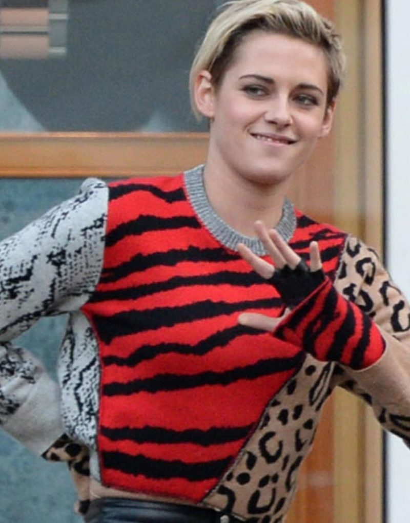 Charlie's Angels Kristen Stewart Animal Print Sweater