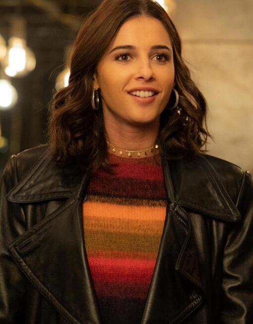Charlie's Angels Naomi Scott Black Leather Jacket