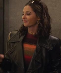 Charlie's Angels Naomi Scott Black Leather Jackets