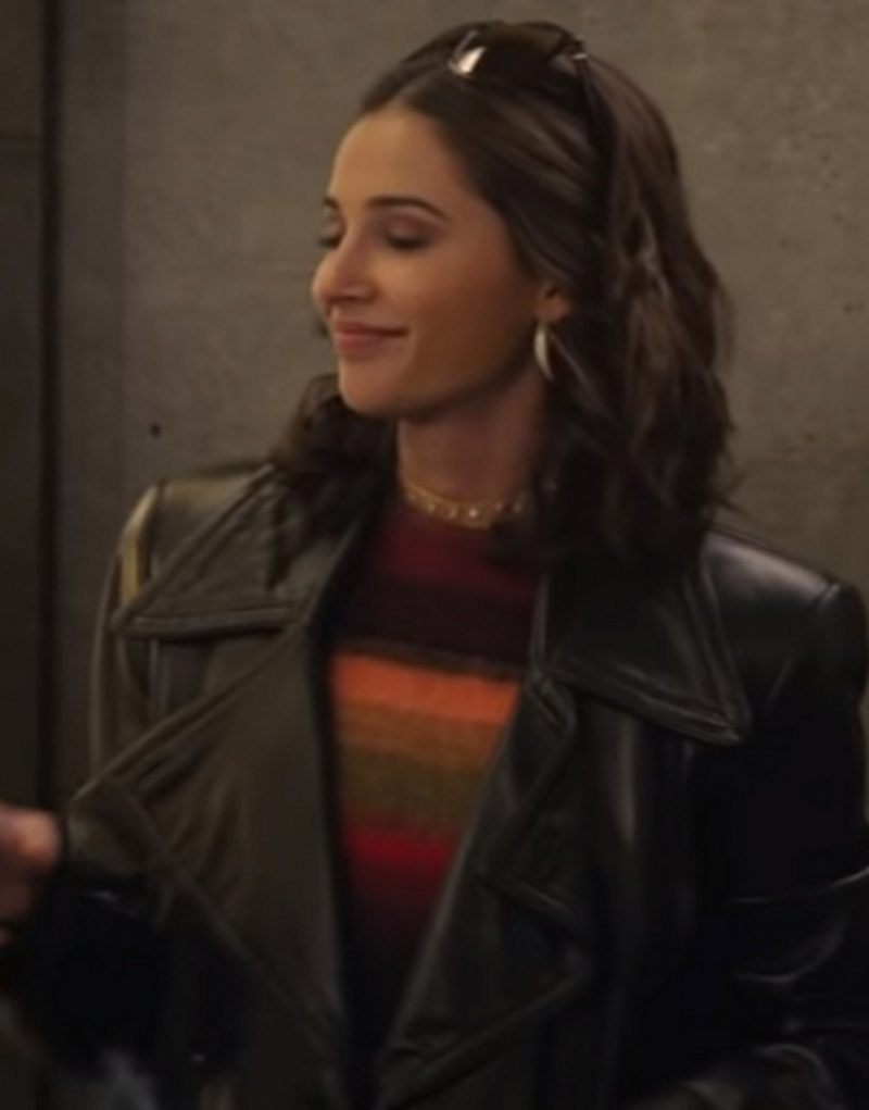 Charlie's Angels Naomi Scott Black Leather Jackets