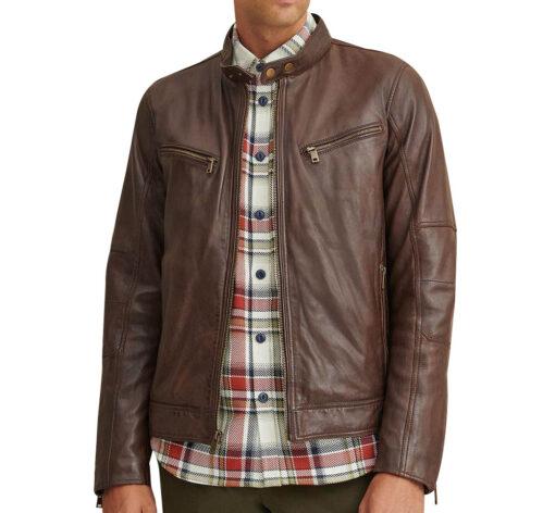 Brent Leather Moto Jacket