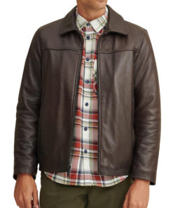 Brown Lined Leather Jacket