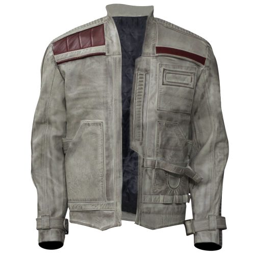 Star Wars Force Awakens Finn Distressed Real Leather Jacket