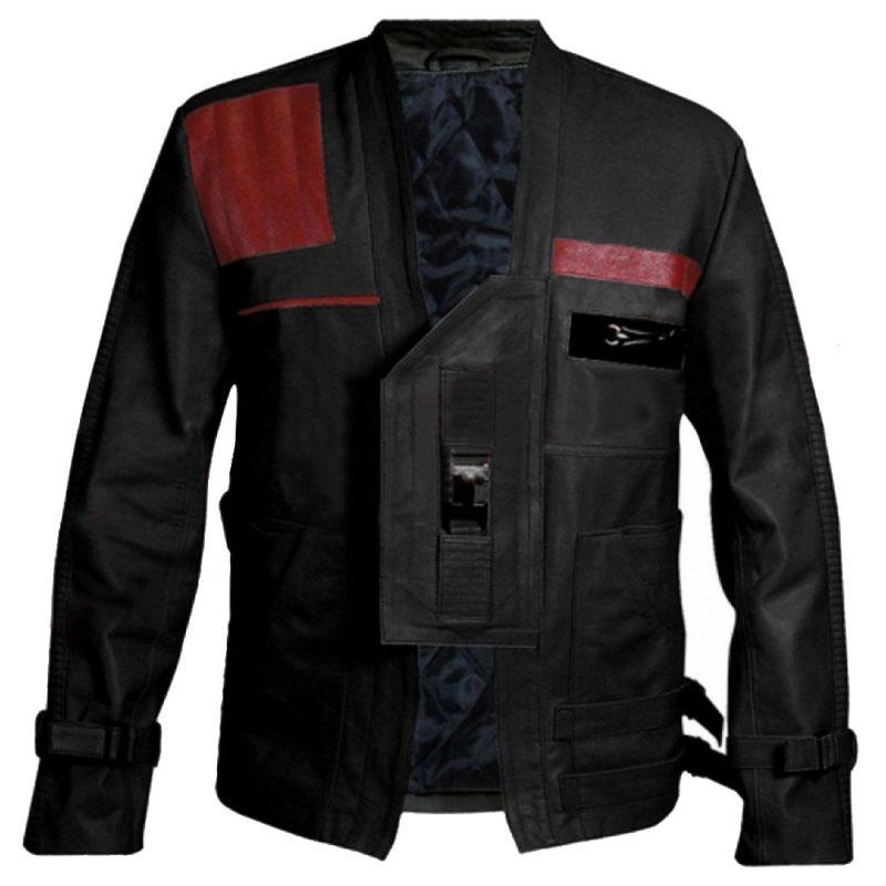 The Force Awakens Star Wars Finn John Boyega Black Jacket