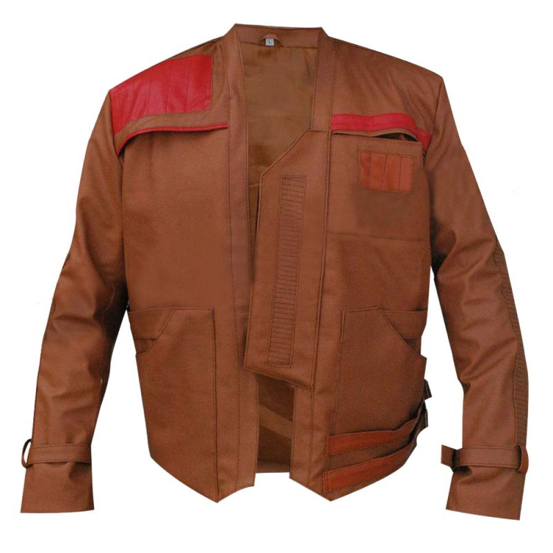 The Force Awakens Star Wars Finn John Boyega Brown Jacket