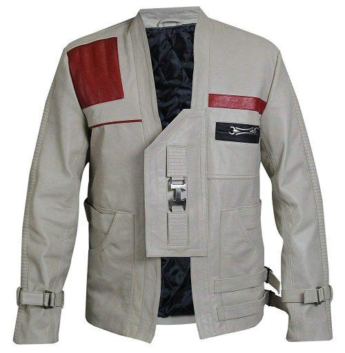 The Force Awakens Star Wars Finn John Boyega Gray Jacket