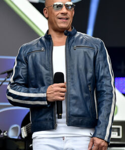 The Road To F9 Concert Vin Diesel Fast and Furious 9 Dominic Toretto Leather Jacket