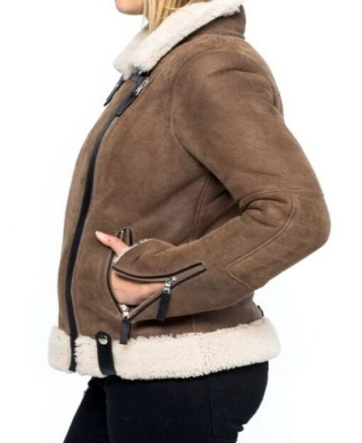 Melinda-Monroe-Virgin-River-Fur-Brown-Shearling-Leather-Jacket-Women