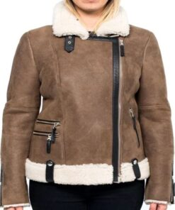 Virgin-River-Alexandra-Breckenridge-Fur-Shearling-Brown-Leather-Jacket