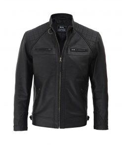 Cafe-Racer-Johnson-Diamond-Black-Biker-Jacket