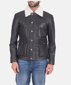 Men-Fur-Collar-Black-Leather-Jacket