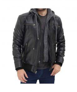 Men_black_leather_jacket_with_hood