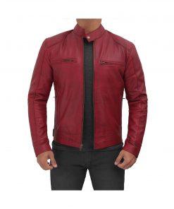 mens_maroon_racer_jacket