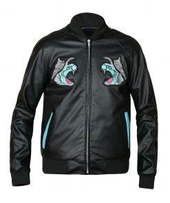 Fantasy-XV-Bomber-Black-Leather-Jacket