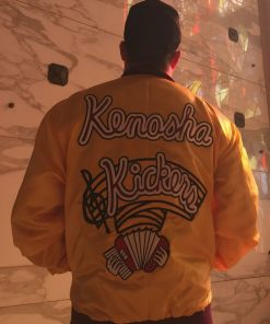 Home-Alone-Gus-Polinski-Jacket-Kenosha-Kickers-Yellow-Bomber-Jacket