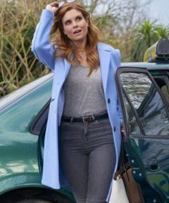 JoAnna-Garcia-Swisher-Blue-Trench-Coat