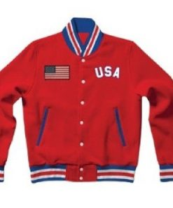 Rib-Knitted-United-States-Red-Letterman-Varsity-Bomber-Jacket