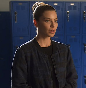 Tv-Series-Lucifer-Chloe-Decker-Black-Cotton-Bomber-Jacket