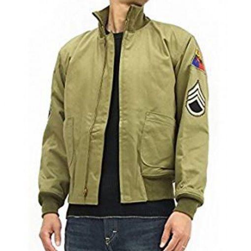 fury-tanker-ww2-brad-pitt-khaki-bomber-jacket