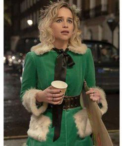 last-christmas-emilia-clarke-green-coat